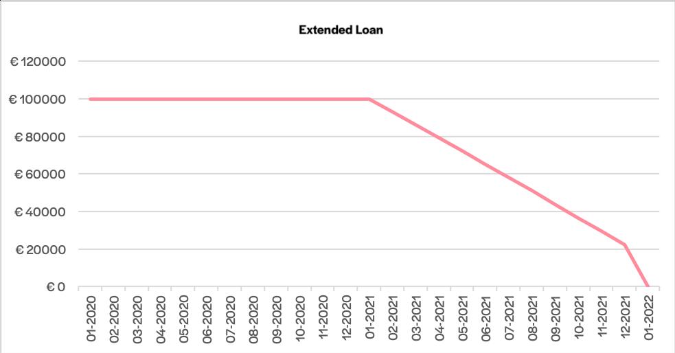 schema di rimborso di un finanziamento extended loan